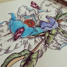 цветы гун би выполненные графикой