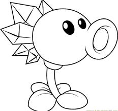 80740 Peashooter Plants Vs Zombies Coloring Pages Watsicacom