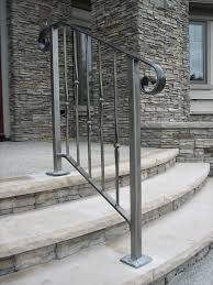 Inject some personality in your home decor with these elegant exterior  wrought iron stair railings.