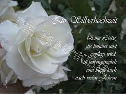 Hochzeitskarten Silberhochzeit Karte Rose Weiß Td0001 Ein