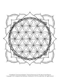 Free Coloring Page with Flowers, Stars and Geometric Shapes ...