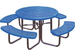 46 inch round picnic table diamond cut surface