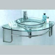 glass vanity top with integrated sink glass sink vanity transpa tempered glass bathroom vanities for vessel