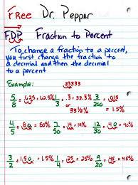 Fdp Chart Math Fdp Fraction Decimal Percent Free Dr Pepper That