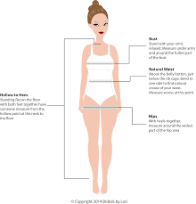 Lazaro Bridal Size Chart Measurement Guide