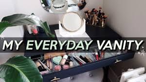 organizing my makeup in my vanity tour setup jamie paige