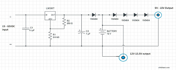 circuit diagram diy ups for dsl modem wifi router