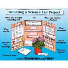 Science Chart Project Displaying A Science Fair Project Chart