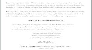 Restaurant Waiter Resumes Examples Of Resumes For Restaurant Jobs Waitress Resume Examples
