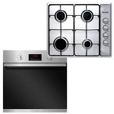 Baumatic Kitchen Appliances Baumatic 60cm Oven And Cooktop Cooking Pack Bs67ms Bgh60s