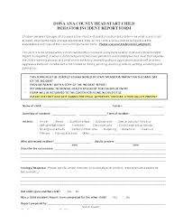 Template Incident Report Form Sample Free Forms Medical