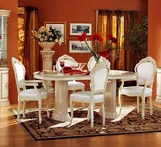 Dining Room Set With China Cabinet Rossella Comp 1 Dining Room Set Table 2 Arm And 4 Side Chairs 4