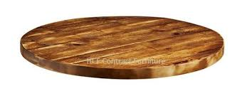 600mm dia round x 32mm thick aged rustic solid pine wood table tops z