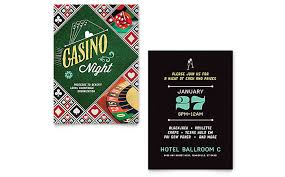 Casino Night Invitation Template Word Publisher Custom Invitation Template Word