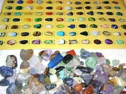Rock And Gem Identification Chart Stone Mineral Educational Find Sort Identify Kit With Picture Chart Stones