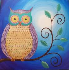 owl acrylic painting tutorial live stream event free tutorial