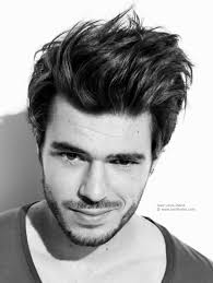 Messy Hairstyle For Guys Hair Brushed Back Or Just Out Of Bed Look For Men