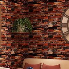Small Picture Yancorp Waterproof Self Adhesive Wallpaper Rust Red Brown Brick