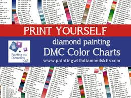 Print Yourself Dmc Color Charts Diamond Painting Drill Color Charts Diamond Painting Diamond Drill Color Charts Sorted Numerically Name