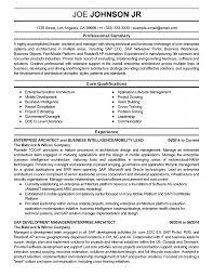 Enterprise Architecture Resumes Yun56 Co System Architect Cv Sample