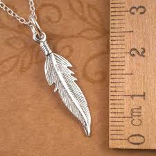 sterling silver angel feather necklace
