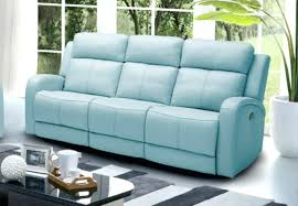 blue leather reclining sofa light blue leather sofa light blue reclining sofa leather match 1 photos