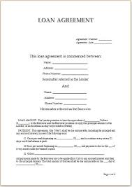 Free Loan Agreement Free Loan Agreement Format Sample For Personal Loans Vatansun 53