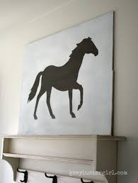 amazing western pattern horses large wall art in metal hang on grey wall