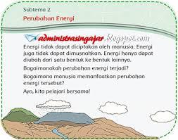 Mendengarkan radio sepanjang hari b. Soal Dan Kunci Jawaban Tematik Kelas 3 Tema 6 Energi Dan Perubahannya K13 Administrasi Ngajar