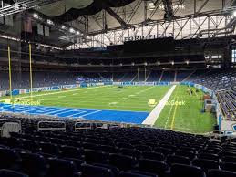 Detroit Lions Seating Chart With Seat Numbers Detroit Lions Seating Chart Map Seatgeek