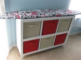 ironing board furniture. cubby shelf with ironing board top furniture f