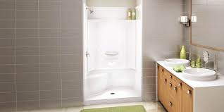 showers alcove shower stalls showers walk in corner and enclosures bathtub white canada