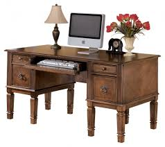 Office desks with storage Wooden Hamlyn Medium Brown Home Office Storage Leg Desk Parrs Hamlyn Medium Brown Home Office Storage Leg Desk H52726