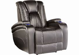 kingvale black power reclining sofa with veneto brown leather power reclining console loveseat leather