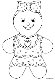 Gingerbread House Coloring Pages Marvelous Gingerbread Girl Coloring