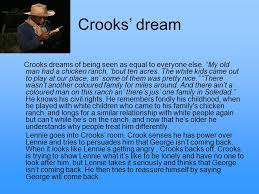 Crooks Dream Quotes Best of Of Mice And Men And Crooks Homework Service Ygassignmentmdfo