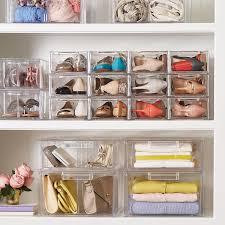 whitmor stackable chrome closet shelves