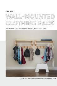 diy clothing rack with shelf free
