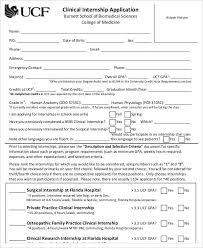 Application Sample For Internship 8 Internship Application Examples Samples Examples