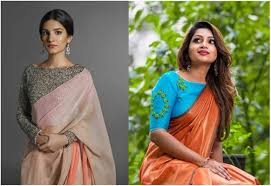 Green Saree With Pink Blouse Design 15 Types Of Designer Blouses For Plain Sarees
