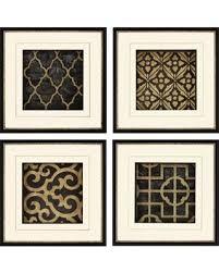 ebony framed wall art set of 4 set of four black gold on black and gold framed wall art with check out these hot deals on ebony framed wall art set of 4 set
