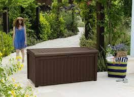 keter borneo storage box brown 400l