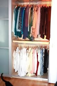 large size of double rod closet organizer closet rod double hanging maximizes the hanging space source