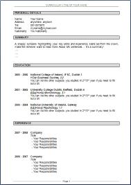 Resume Templates Good Resume Samples Doc Download Complete