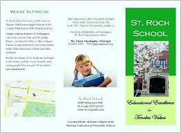 Sample Of Brochure For School Itvmarketer