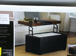 coffee table with ottomans underneath large storage ottoman coffee table with seating image inspirations