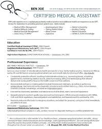 Sample Of A Medical Assistant Resume Resume Medical Assistant ...