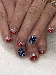 Gel Nail Designs For 4th Of July
