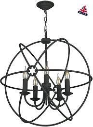 black orb chandelier hunt iron globe 5 light ceiling pendant and gold black orb chandelier