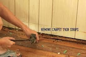 carpet tack strip glue how to remove carpet remove carpet tack strips with a pry bar carpet tack strip